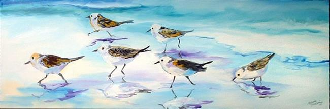 Art: SANDPIPERS on the BEACH by Artist Marcia Baldwin