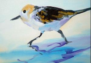 Detail Image for art SANDPIPERS on the BEACH