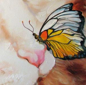 Detail Image for art CALICO & BUTTERFLY