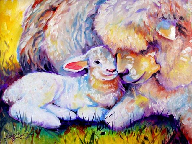 Baby animal painting - photo#25