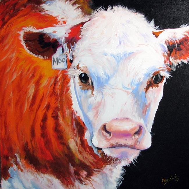 Art: MOO ME COW by Artist Marcia Baldwin