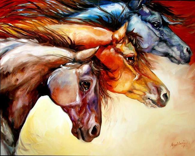 Art: POWERFUL by Artist Marcia Baldwin