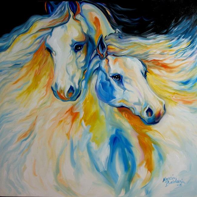 The dreamers by marcia baldwin from abstract for Abstract animal paintings