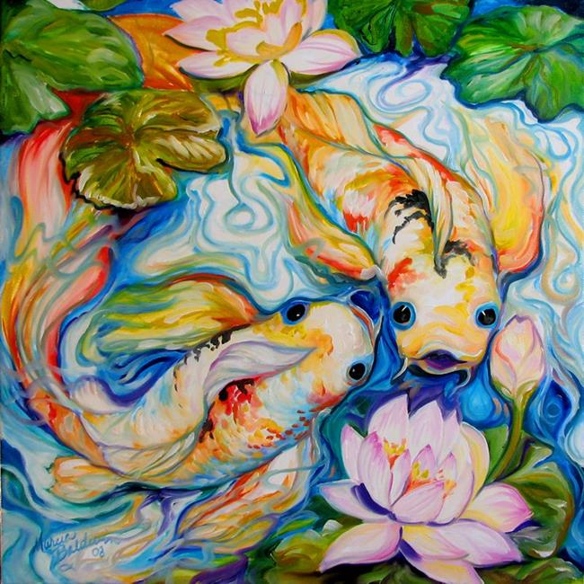 Favorite art of marcia baldwin currently viewing koi pond for Koi fish pond art