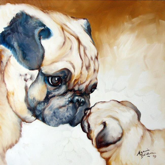 Pug 2 pug by marcia baldwin from animals for Animal oil paintings