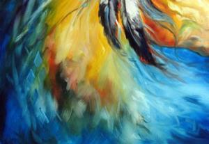 Detail Image for art BLUE THUNDER WAR PONY