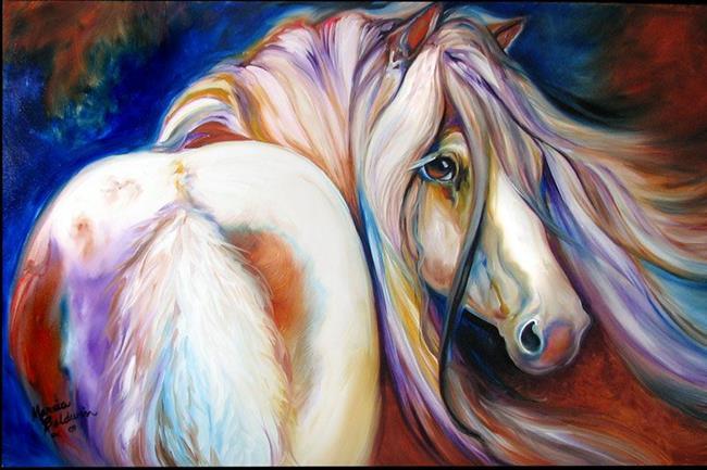 Art: GYPSY VANNER GLORY by Artist Marcia Baldwin