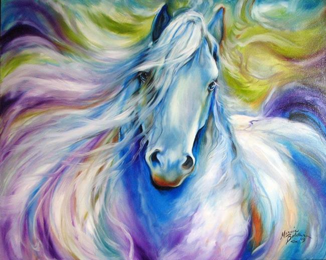 Art: DREAMSCAPE FREISIAN by Artist Marcia Baldwin