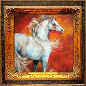 Detail Image for art FLAME ARABIAN ~ EQUINE ART