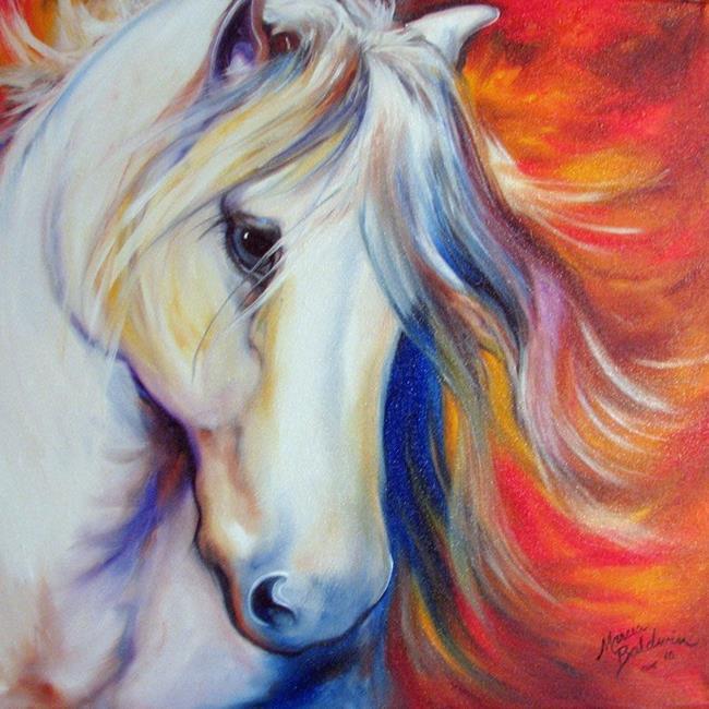 Art: WHISPER EQUINE ARABIAN by Artist Marcia Baldwin