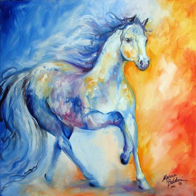 Art: BLUE RUNNER by Artist Marcia Baldwin