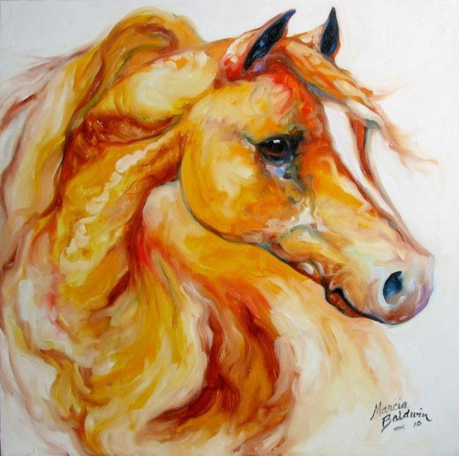 Art: GOLD ARABIAN by Artist Marcia Baldwin