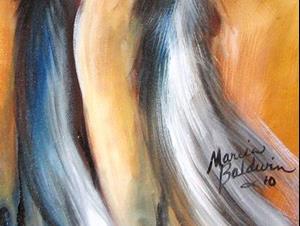 Detail Image for art 3 in ANTICIPATION ~ EQUINE ART ORIGINAL