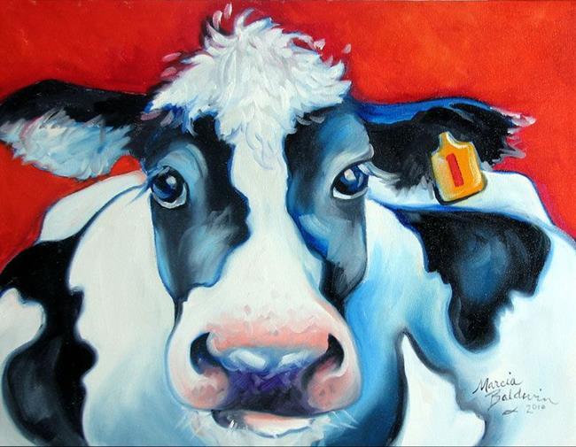 Art: HAPPY COW ONE by Artist Marcia Baldwin