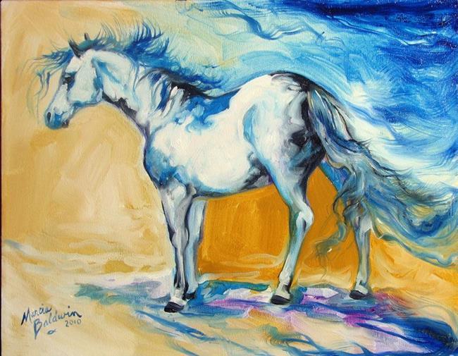 Art: PINTO BLUE by Artist Marcia Baldwin