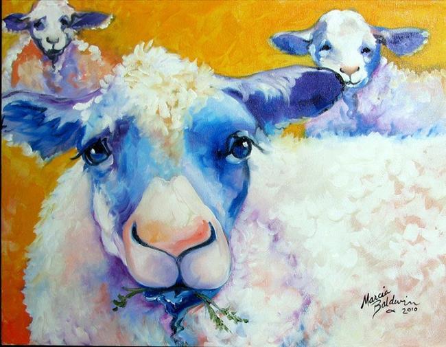 Art: BAA BAA & MAA SHEEP by Artist Marcia Baldwin