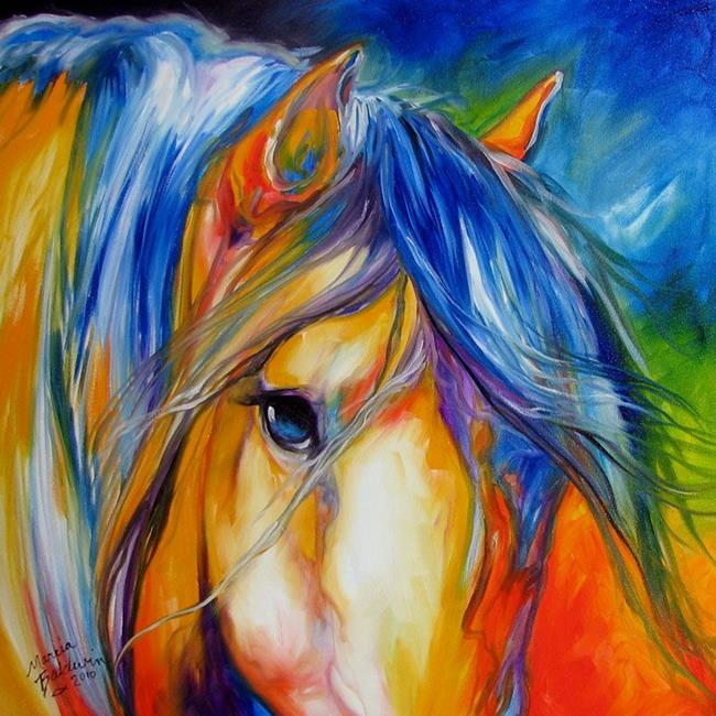 Art: MUSTANG LEGEND by Artist Marcia Baldwin