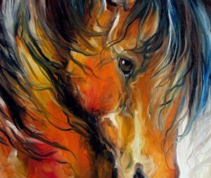 Detail Image for art REGAL SPANISH HORSE