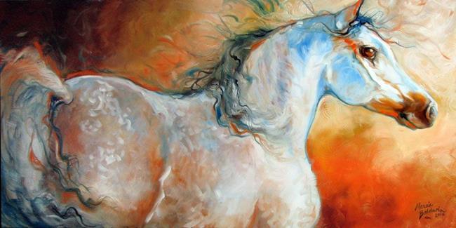 Art: ARABIAN SUNRISE by Artist Marcia Baldwin