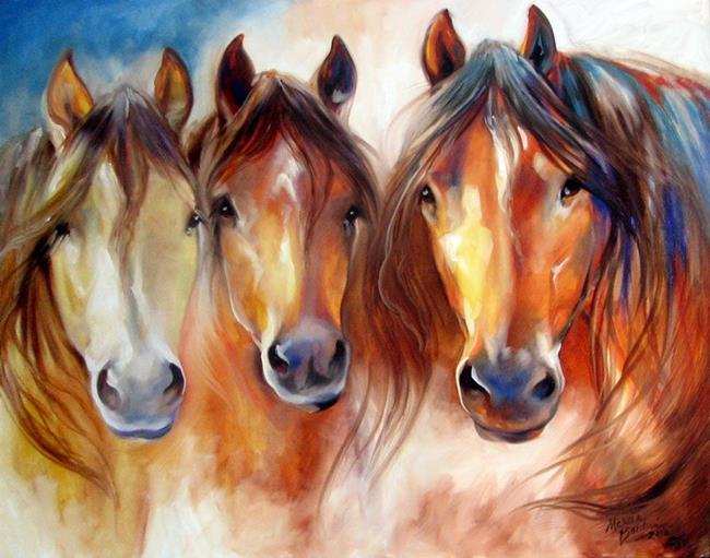 Art: AMIGOS THREE by Artist Marcia Baldwin