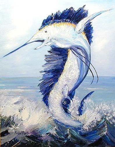 Art: Bill Fish by Artist Ulrike 'Ricky' Martin