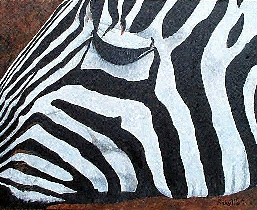 Art: Zebra Close Up - sold by Artist Ulrike 'Ricky' Martin