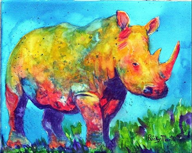Art:  Rhino  ( available in my ebay store) by Artist Ulrike 'Ricky' Martin