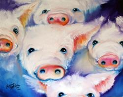 Art: FIVE LITTLE SQUEALS by Artist Marcia Baldwin
