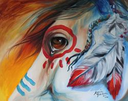 Art: WAR HORSE SPIRIT EYE by Artist Marcia Baldwin