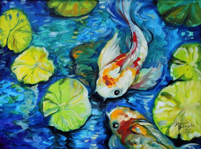 Art: KOI POND BLUE by Artist Marcia Baldwin