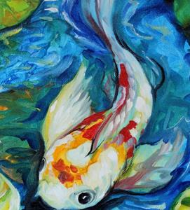 Detail Image for art KOI POND BLUE