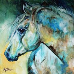 Art: MOONLIGHT AURA EQUINE by Artist Marcia Baldwin