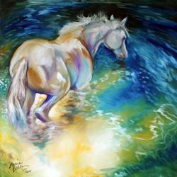 Art: MAY WATERBABY EQUINE by Artist Marcia Baldwin