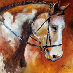 Art: BRIDLED by Artist Marcia Baldwin