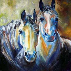Art: KINDRED SOULS EQUINE by Artist Marcia Baldwin