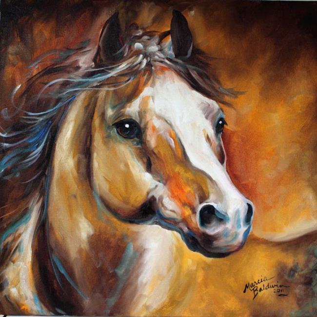 Art: Chester the Chestnut Stallion by Artist Marcia Baldwin