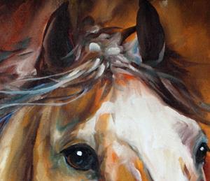 Detail Image for art Chester the Chestnut Stallion