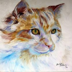 Art: SERENE KITTY by Artist Marcia Baldwin