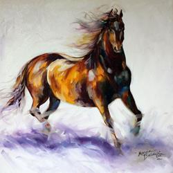 Art: WILD & FREE MUSTANG by Artist Marcia Baldwin