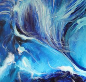 Detail Image for art BLUE NIGHT ABSTRACT EQUINE