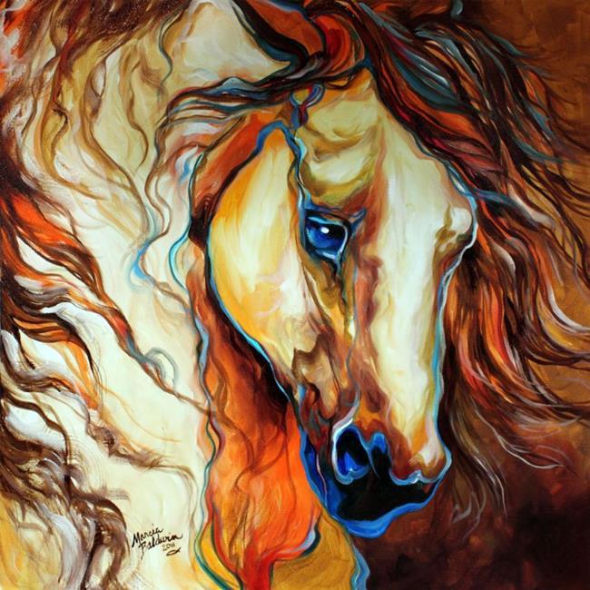 Art: WILD WEST BUCKSKIN by Artist Marcia Baldwin