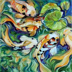 Art: QUAD KOI POD by Artist Marcia Baldwin