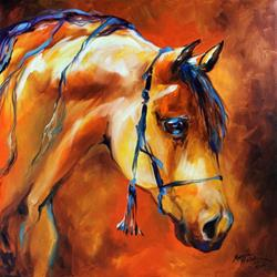 Art: SHOWTIME ARABIAN by Artist Marcia Baldwin