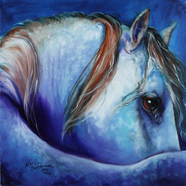 Art: MOONSTRUCK BLUE APPY by Artist Marcia Baldwin