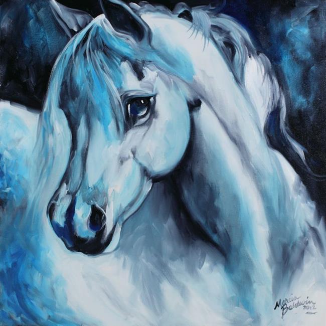 Art: ARABIAN AZURE by Artist Marcia Baldwin