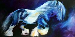 Art: GYPSY VANNER STALLION II by Artist Marcia Baldwin