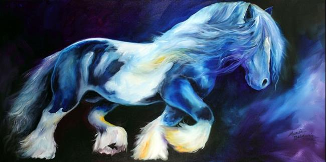 Art: GYPSY VANNER STALLION II by Artist Marcia Baldwin