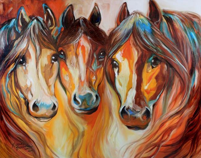Art: MUSTANG GANG by Artist Marcia Baldwin