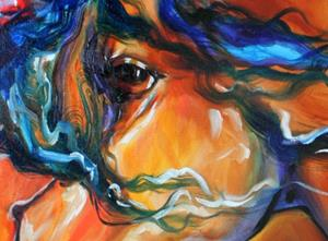Detail Image for art RED THUNDER INDIAN WAR HORSE