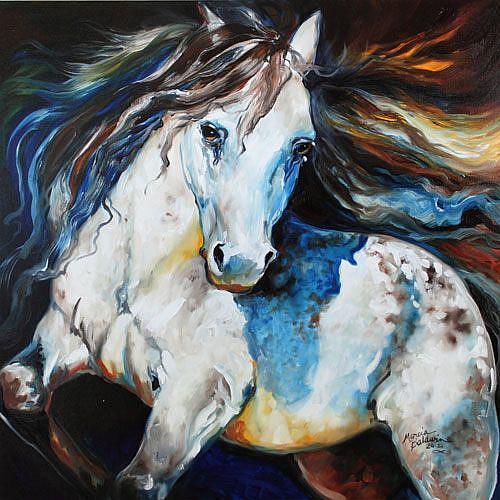 Art: MOONLIGHT APPALOOSA by Artist Marcia Baldwin